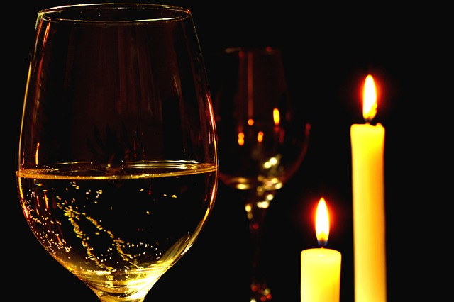Candle-Light zum Valentinstag